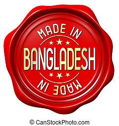 Red wax seal - made in Bangladesh