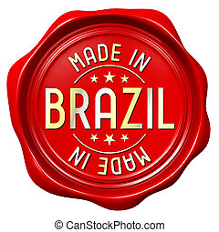 Red wax seal - made in Brazil