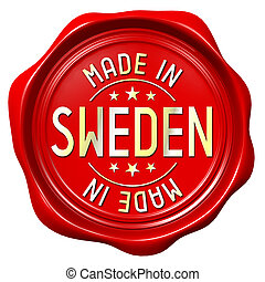 Red wax seal - made in Sweden