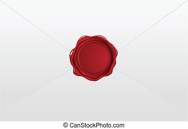 Red wax seal on the envelope