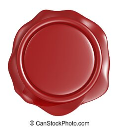 red wax seal - 3d red wax seal isolated on white background