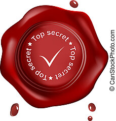Red wax seal top secret
