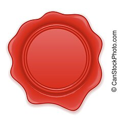 red wax stamp vector illustration