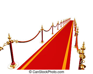 Red way - 3d render of red carpet