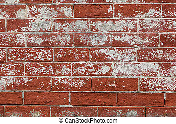 Red Weathered Brick Background