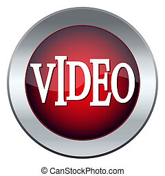 red web button labeled video