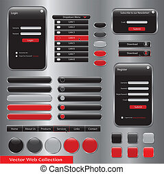 Red Web Forms Template