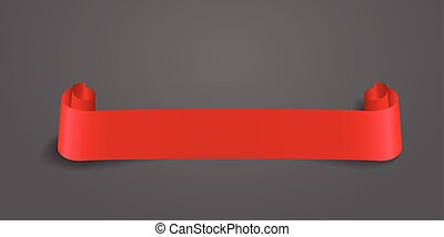 red web ribbon banner. Vector illustration for design