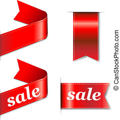 Red Web Sale Ribbons Set