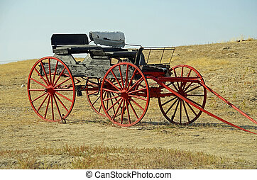 Authentic buckboard used in pioneer days in the American west