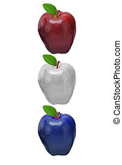 Red white and blue apples. - Apples ready for yor type.