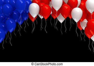 Red, white, and blue balloons background