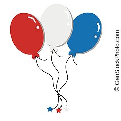Red White and Blue Balloons