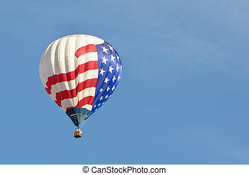 Red White and Blue Hot Air Balloon