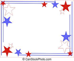 Red, white and Blue Lines and stars - Red, white and blue...