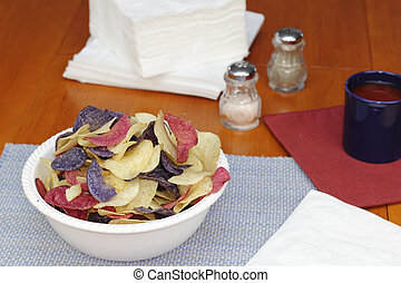 Red, White and Blue Potato Chips