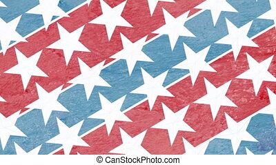 Red White and Blue Stars Loop