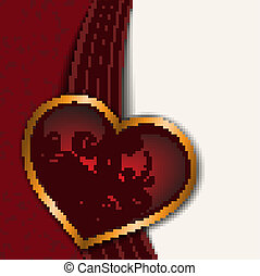 red-white background with heart