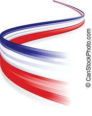 Red white blue - Abstract waving English and French flag