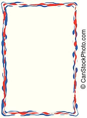 Red White Blue Ribbon Border