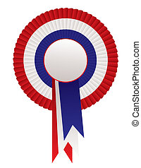 red white blue rosette awards - Red white and blue patriotic...