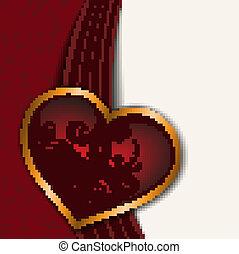 red-white, cuore, fondo