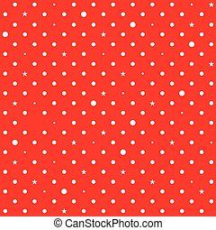 Red White Star Polka Dots Background