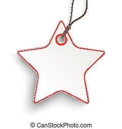 Red White Star Price Sticker