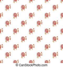 Red white target pattern seamless