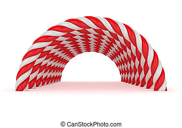 Red-white tunnel