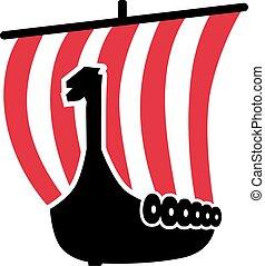 red-white, viking hajózik, vitorlázik, csíkos