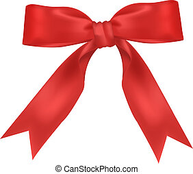 Red wide ribbon