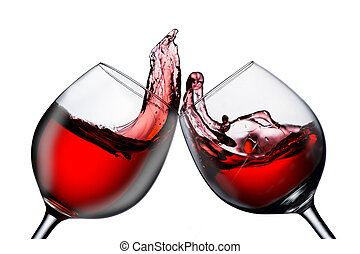 2 glasses of red wine cheers