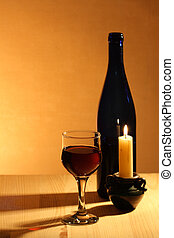 Red Wine And Candle