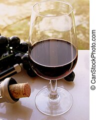 Red wine and cork - Red wine of the alentejo region, in the ...