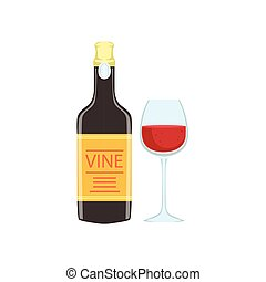 Red Wine Bottle And Glass Portuguese Famous Symbol