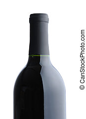 Red Wine Bottle over white background