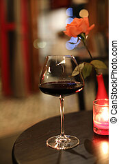 Red Wine drink on glass