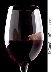 Red Wine Glass with Bottle Stopper