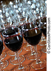 red wine glasses backgound party - CATTERING