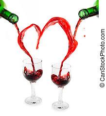 red wine heart
