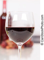 Red wine in a glass portrait format copyspace copy space