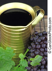 Red wine in a Traditional jug