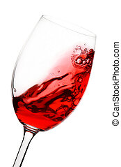 red wine in motion - red wine spinning around a wine glass...