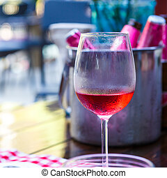 Red wine in restaurant