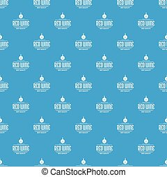 Red wine pattern vector seamless blue