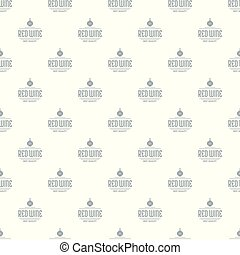 Red wine pattern vector seamless