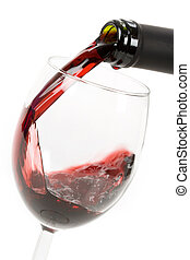Red Wine Pouring Down to a Wineglass