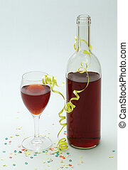 Red Wine - Red wine bottle & glass