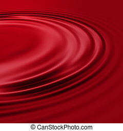 Red Wine - Red wine ripples in a deep burgundy color, almost...
